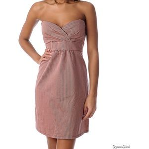 Volcom Dresses - Volcom Frochickie Sweetheart Stripe Pink Dress
